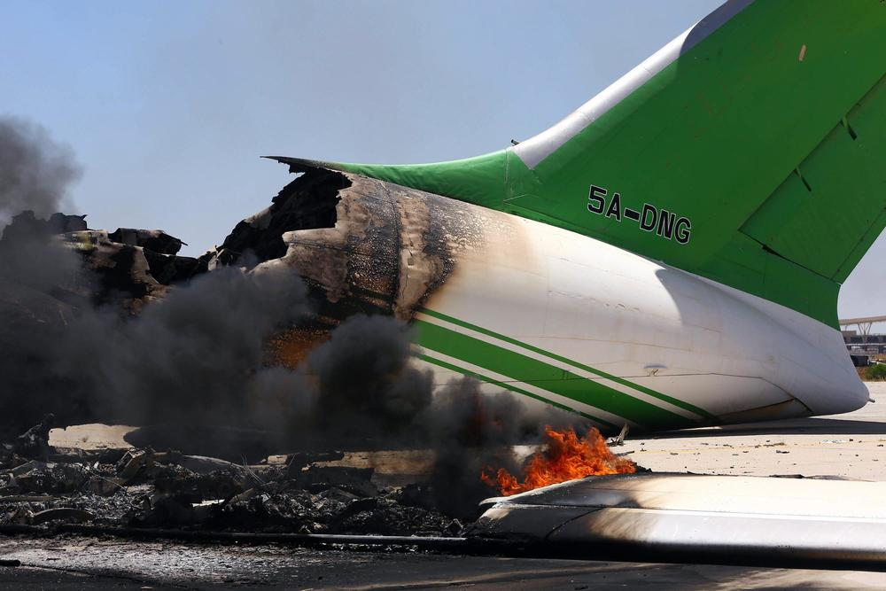 An Ilyushin 76T from Libyan Air Cargo (image credit: AFP - Getty Images through  NBC News )