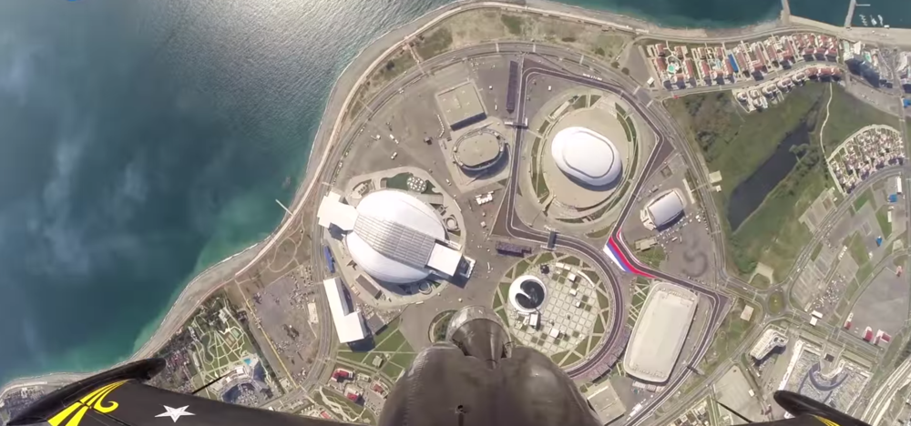 The Olympic Spirit from above. (image credit: Youtube video)