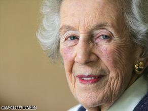 Helen Suzman, pictured at her Johannesburg home in November 2007.