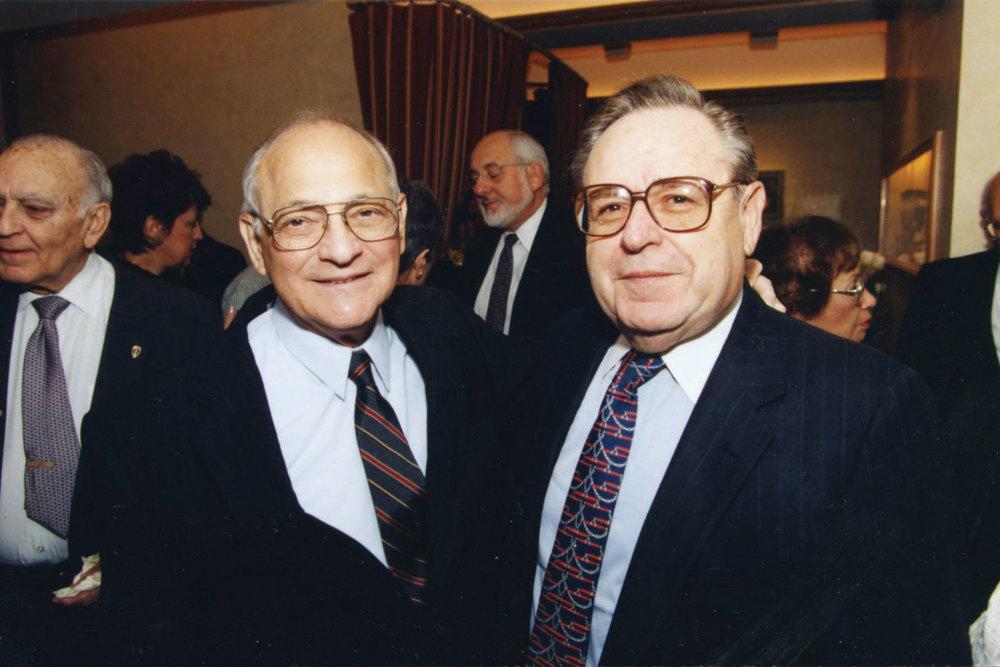 "Burton Joseph,  z""l , with Dr. Paul M. Steinberg,  z""l , HUC-JIR Vice-President, circa 1996."