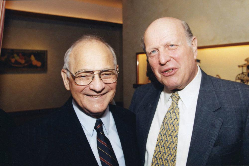 "Burton Joseph,  z""l , with Rabbi Alfred Gottschalk,  z""l , HUC-JIR President, 1978."