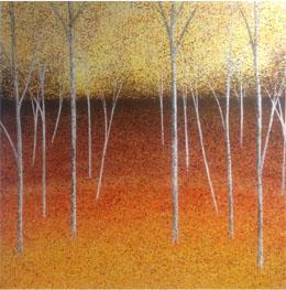 'Autumn Horizon' Oil on canvas by Sarah Pye