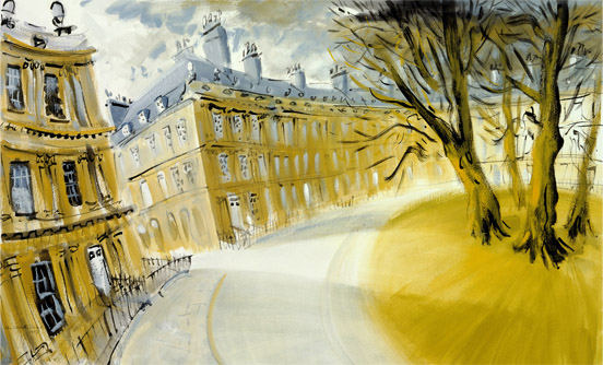 'The Circus, Bath' by Ian Weatherhead. Signed limited edition print