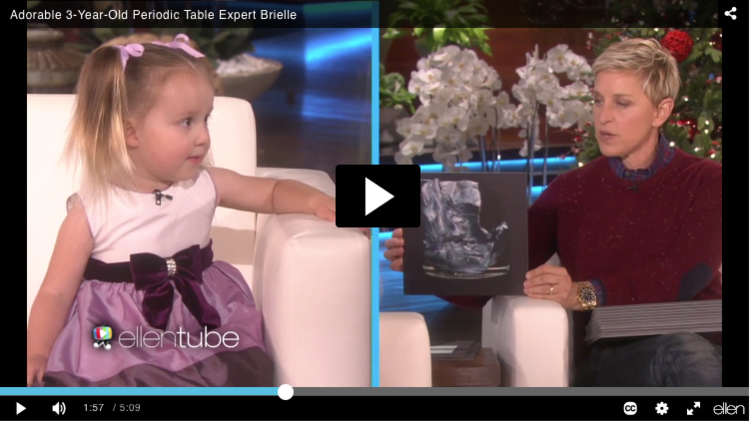 My periodic table cards on the ellen degeneres show theodore gray there was an impossibly cute kid on the ellen degeneres show todayher claim to fame cashed in today is having memorized the whole periodic table using urtaz Image collections