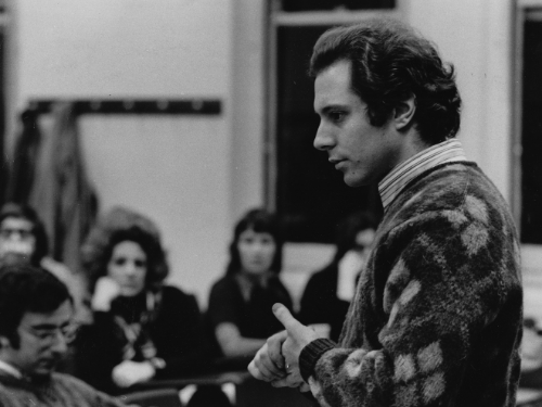Richard teaching at NYU, 1969