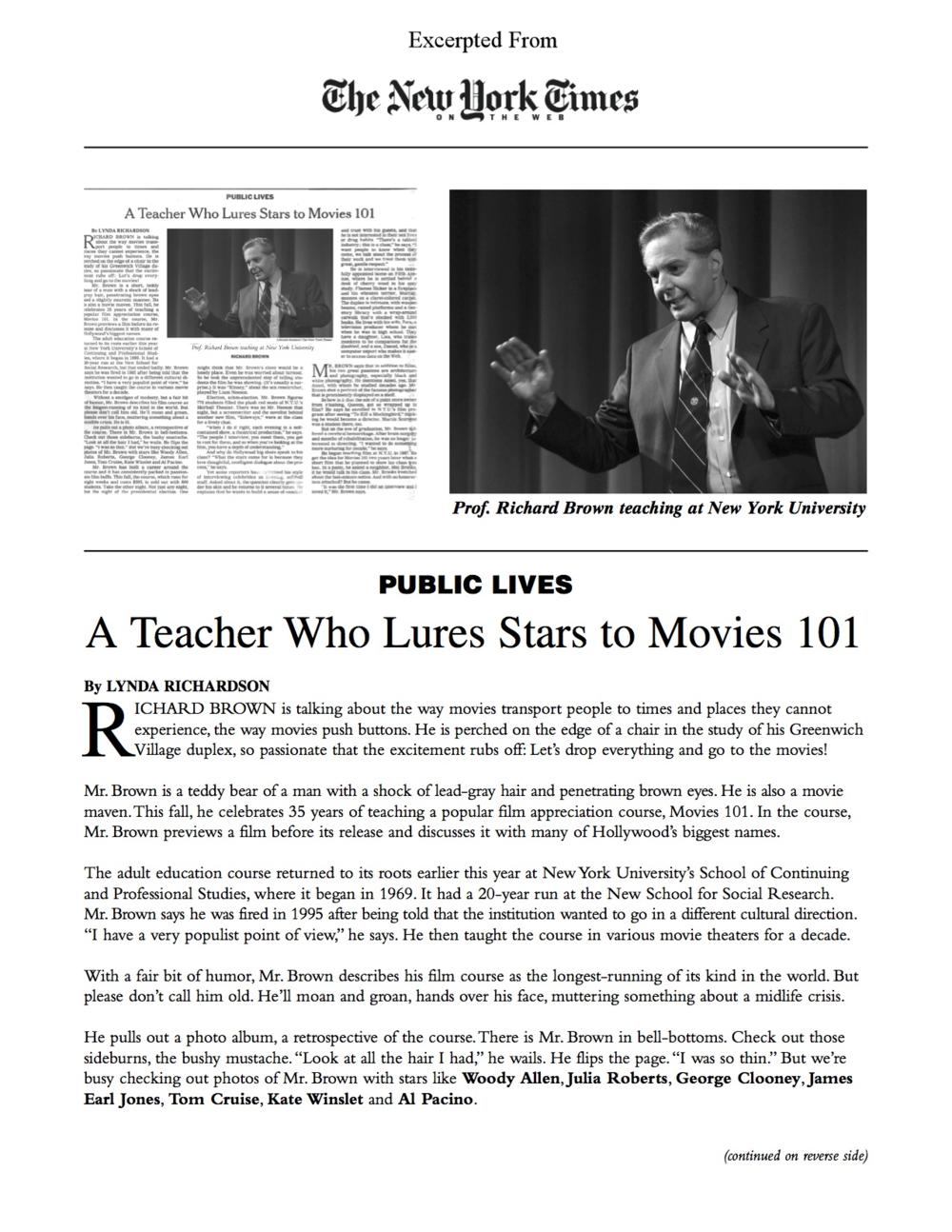 NYT Public Lives