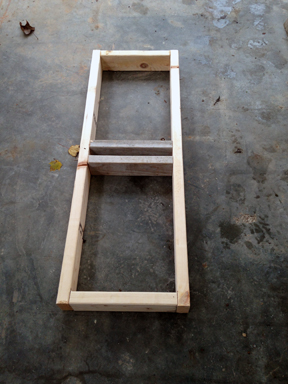 Base frame of the Shelving Unit (Step #2)