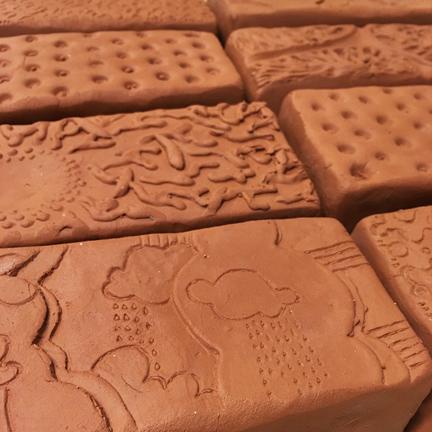 Leatherhard bricks