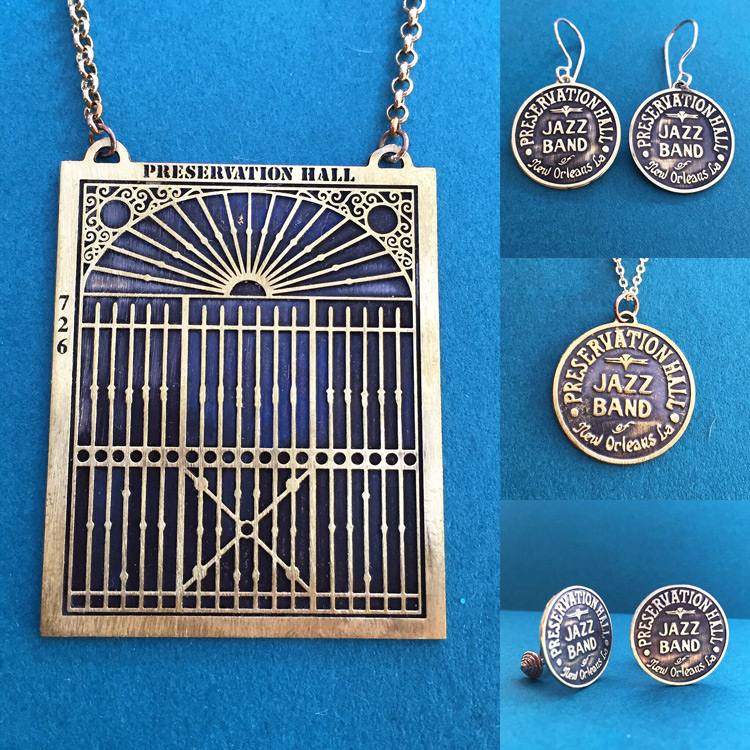 Jewelry brand created for Preservation Hall. Available to purchase HERE.