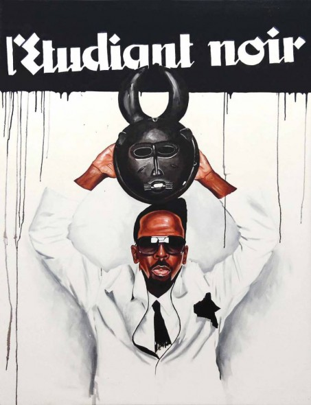 "Real NEGUS Do Real Things, 2012, Acrylic on canvas, 70"" x 54"""