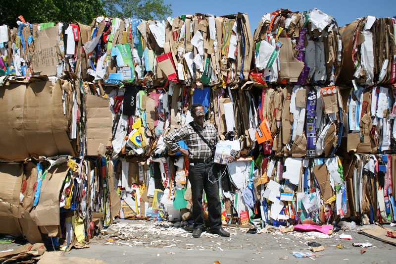 PHOTO: LAURA HUTSON - Holley at an Atlanta recycling plant