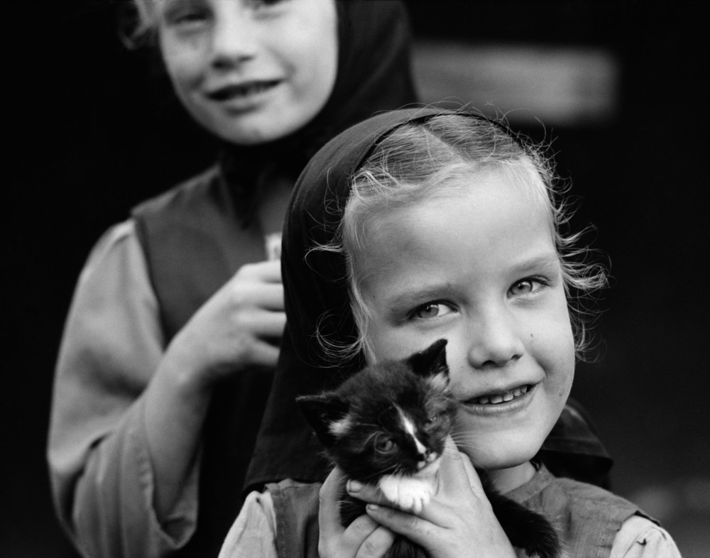 Mennonite Girl with Kitten #2.jpg