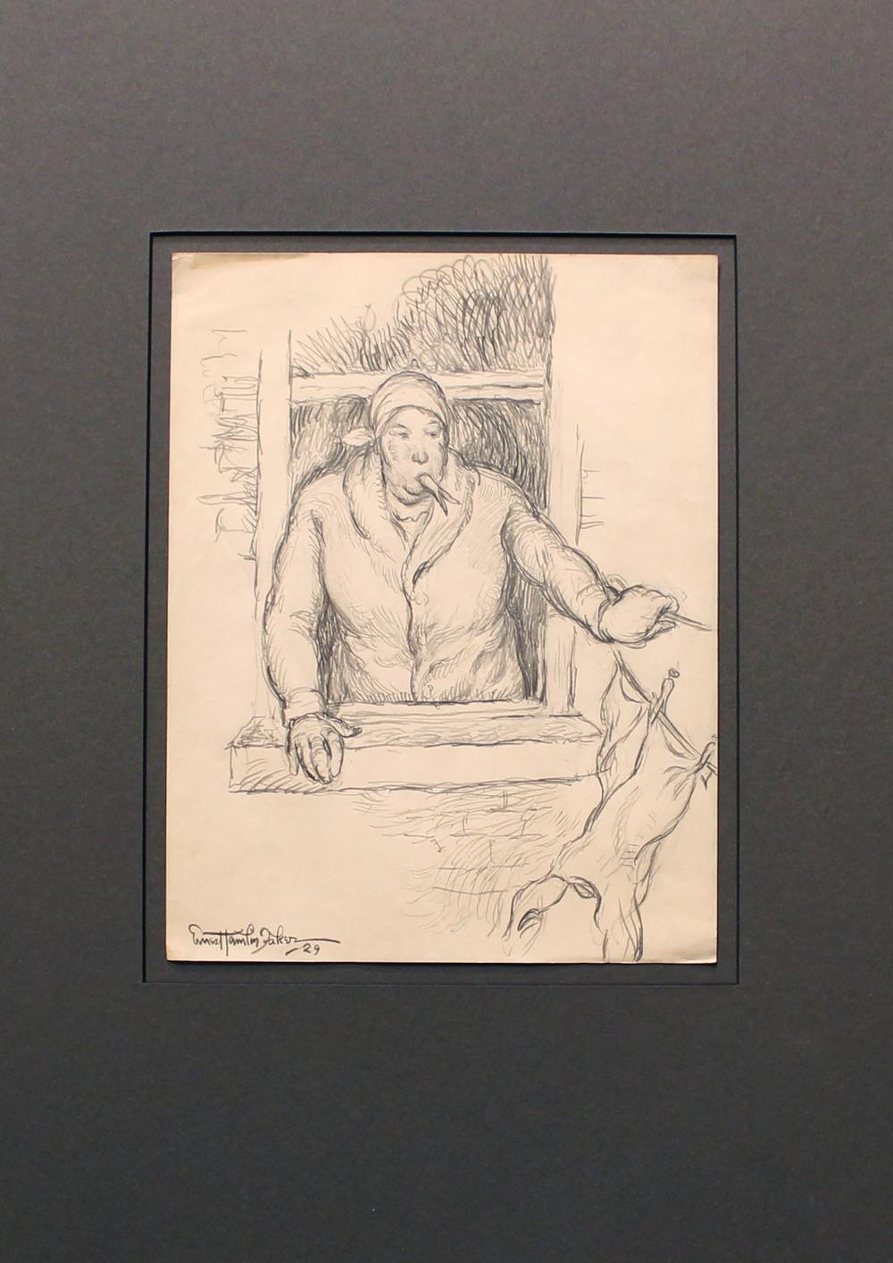 Laundry Day 1929 Baker Sketch Drawing 11x8.5 um, 20x15 m.jpg
