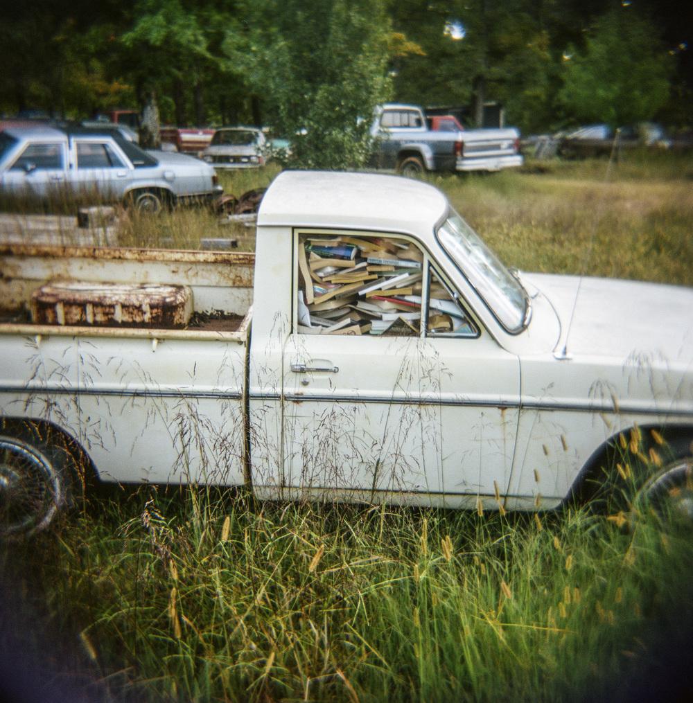 """Humphreys Co, Junkyard Bookmobile, Hwy 13"" ©Jerry Park"