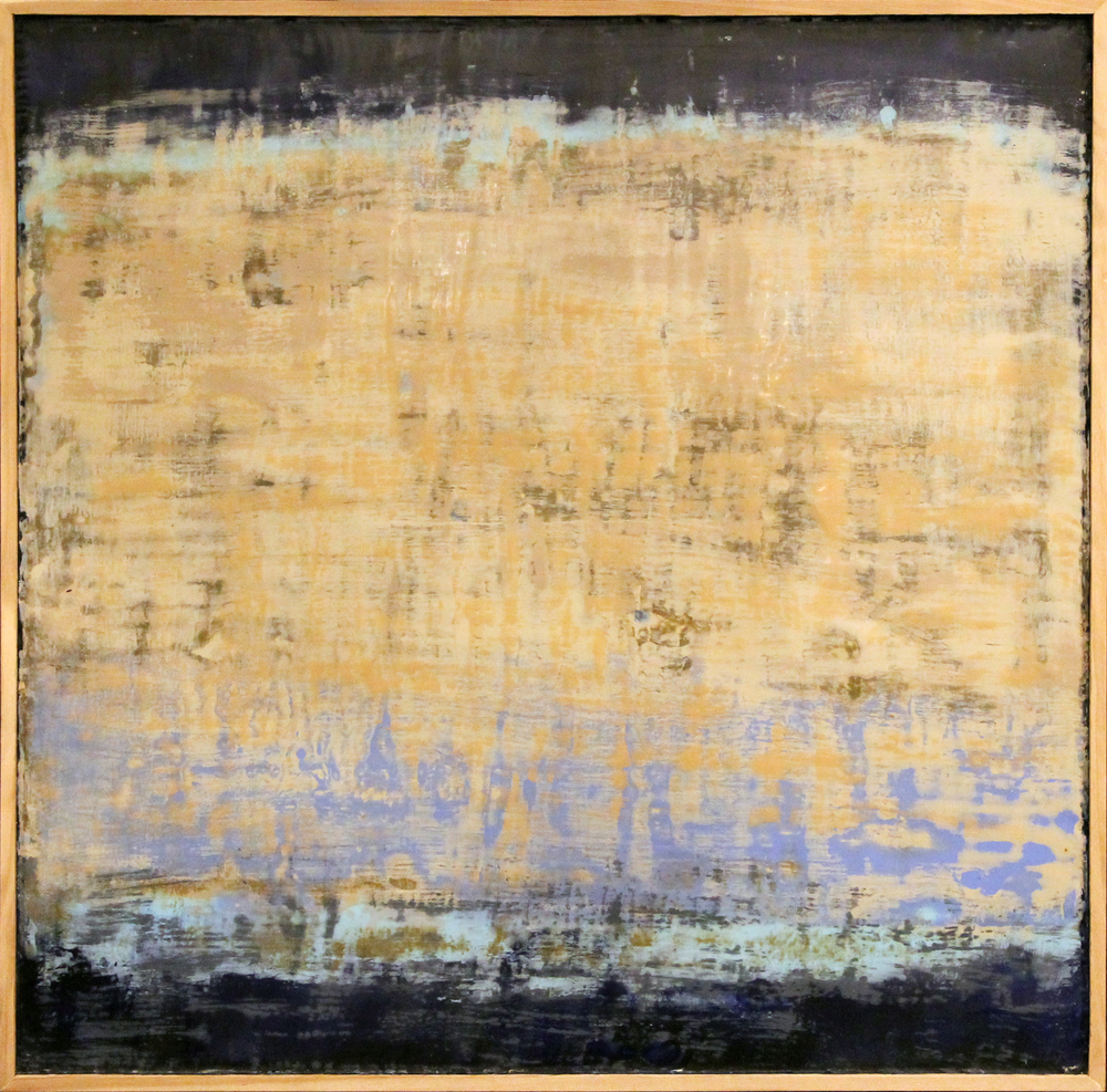 Chaos Theory 27, 24 x 24 in., Encaustic on panel, price upon request. ©Charles Ivey