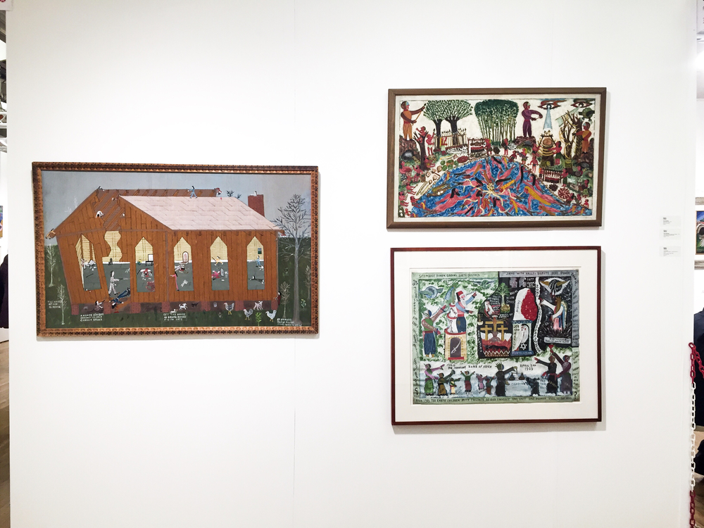 """A House Divided Against Itself Cannot Stand"" by Howard Finster (on the left)"