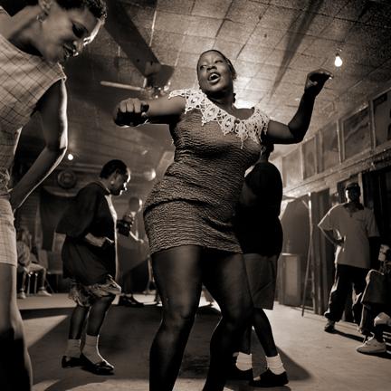 Junior Kimbrough Series: Dancers at Junior's III, Chulahoma, MS, 1998