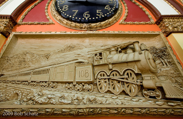 Union Station Clock and Train Detail