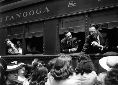 WWII Recruits, Chattanooga Train in Nashville, 1940s