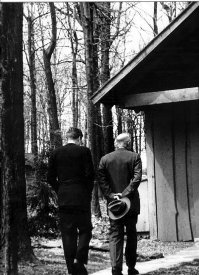 Kennedy and Eisenhower, Camp David 1961