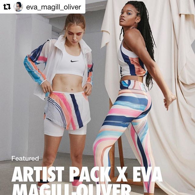 Have you seen our debut show with Eva Magill-Oliver yet? Fun fact: @Nike announced last month an upcoming partnership with Eva to design for their artist athletic wear line. Congrats, Eva! 💫 Visit us at The Arts Company before April 25th to experience #CHROMA and Eva's meditative collages inspired by nature. ______________________________________________  #Repost @eva_magill_oliver with @get_repost ・・・ Honored, humbled and so excited to announce this artist pack collaboration with @nike @nikewomen ! I am thrilled to be a part of this unique and dynamic collection. It was released worldwide March 1st. I'll be sharing more about this collaboration through out the month. Thanks to everyone at Nike who I worked with on this project. I love how everything turned out and I hope you will too. Thank you Nike!! 💥💥💥 #inspiration #beauty #nike #nikerunning #nikewomen #artist #design