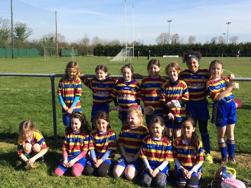 Our U9 Camogie team look as cool as you like they impressed mentors and supporters alike in their first competitive outing!