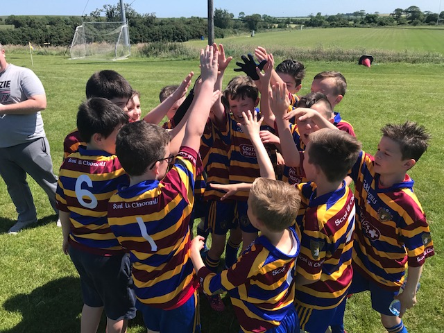 Despite suffering their first loss of the season the u11s can bee seen here showing the resilience and togetherness that epitomises Scoil no matter the age!