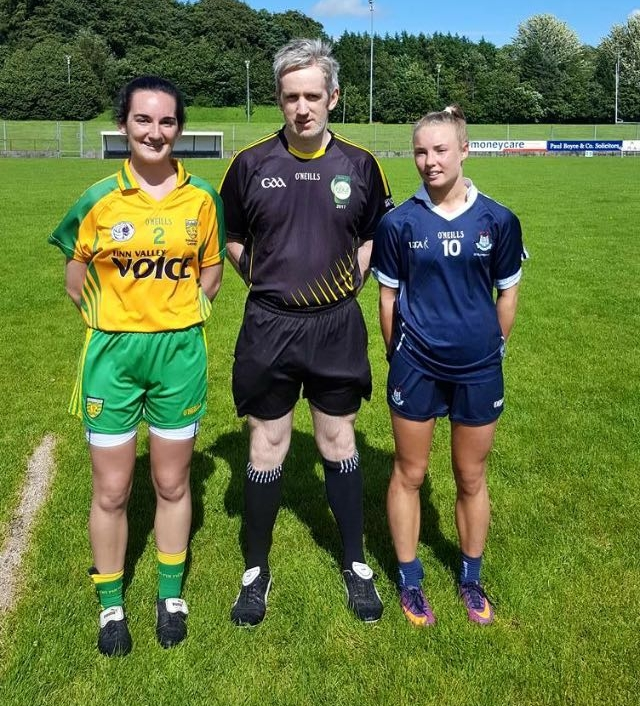 Hannah Leahy takes the toss ahead of the Dublin u17s match against Donegal.