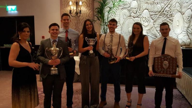 Award Winners 2018: Mairead O'Sullivan, Danny Mottram, Andy Bunyan, Hannah Costello, Podge Kinsella, Sinead deBurca & Paraic Naughton