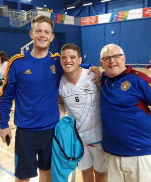 Steven Lee with pals Conor & John Coady