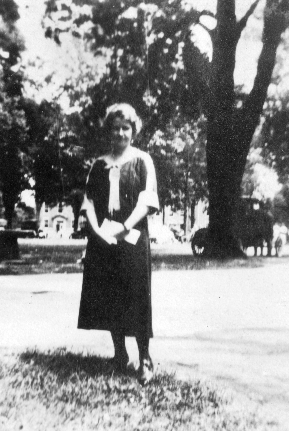 Betty on the Earlham campus at the Young Friends General Conference, 1922