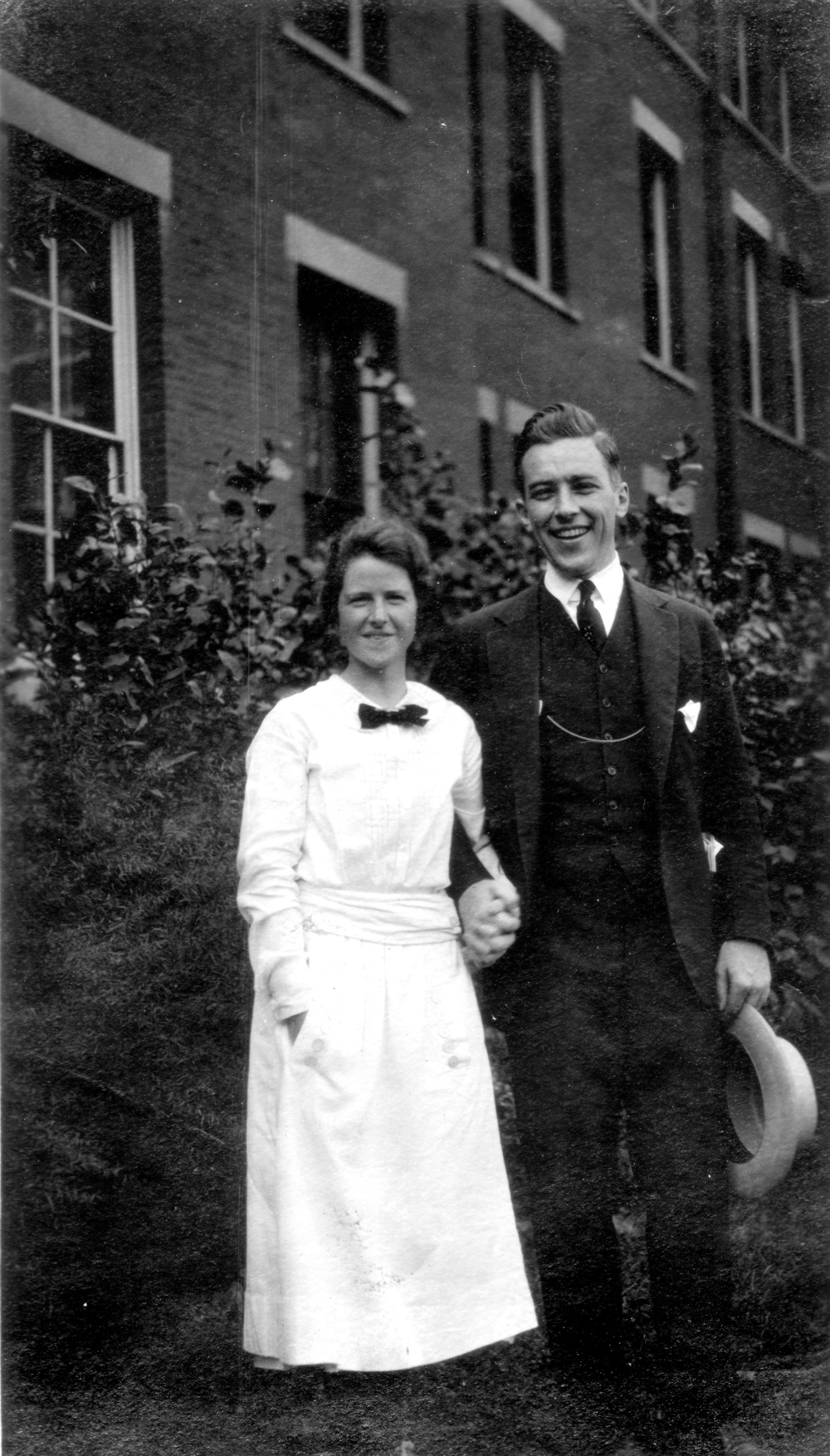 Betty and Paul at the Young Friends General conference, 1922