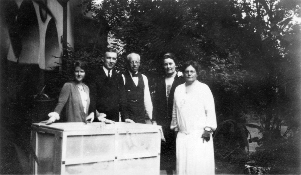 Betty, Paul, William Walter, perhaps Caroline's sister Helen, and Caroline Sargent Walter