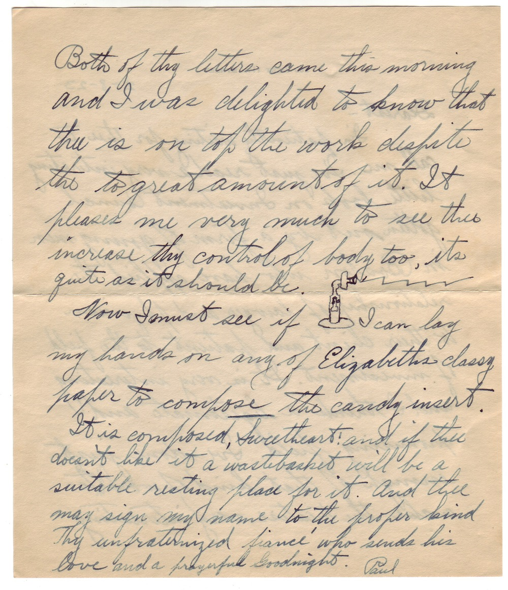Letter from Paul to Betty dated February 8, 1923