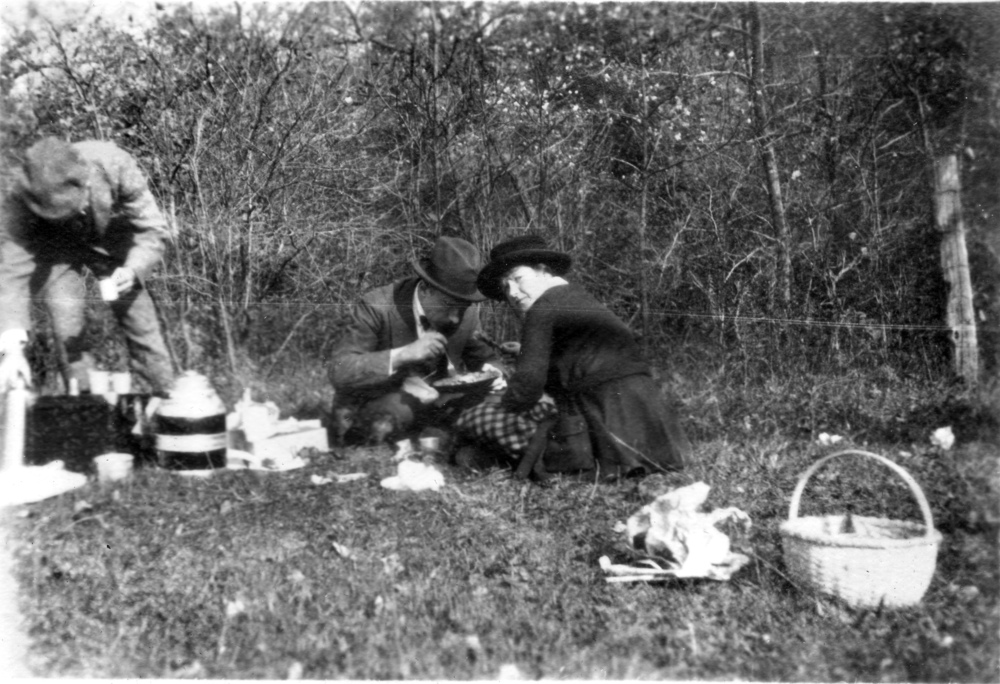 A picnic at Buck Hill Falls, in the Pocono Mountains, PA
