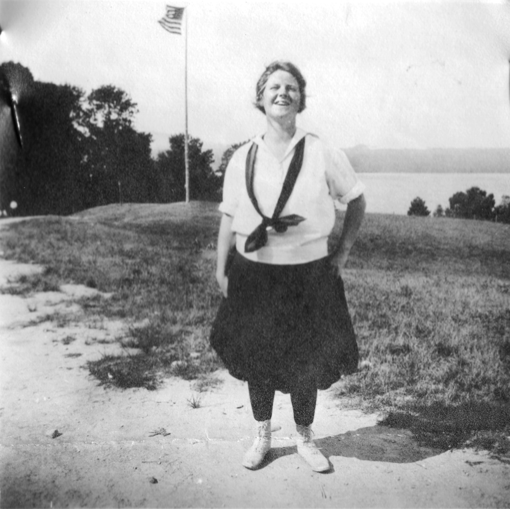 Betty at Camp Maqua, Y.W.C.A.