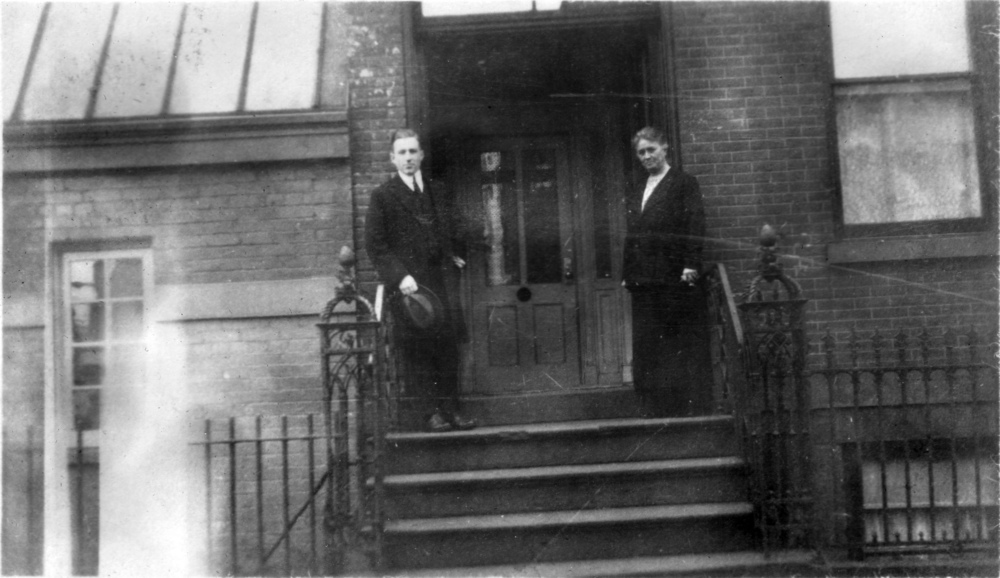 Paul with Elizabeth Walton at 260 W. 11th Street, his lodging in New York, NY