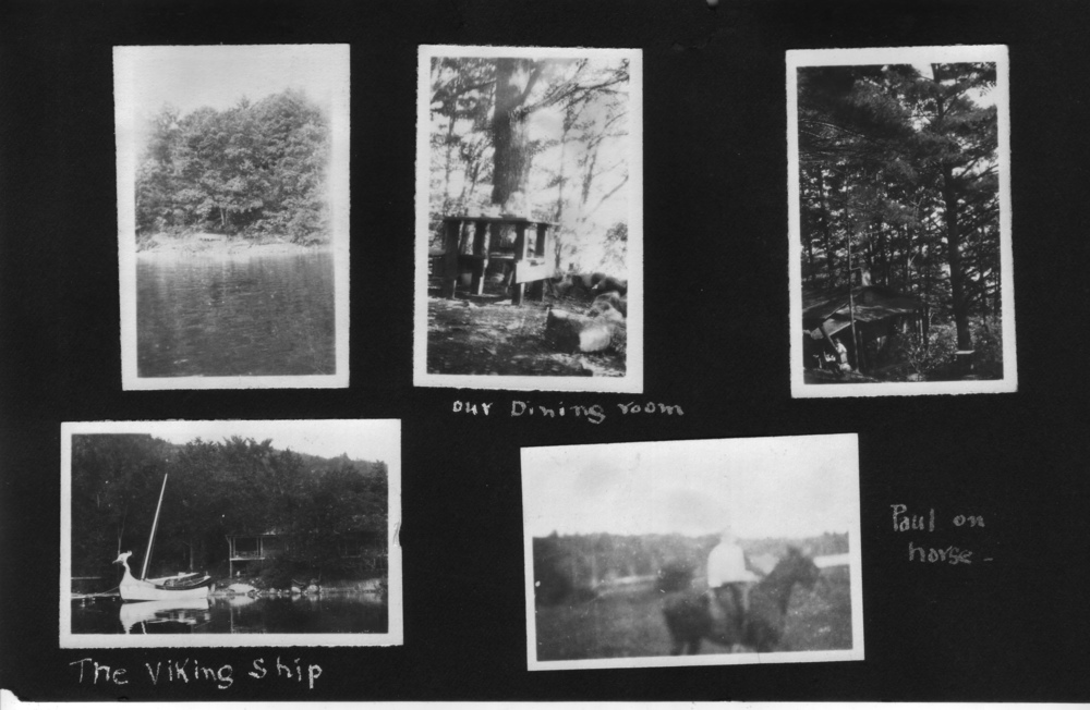 """On the wedding trip"": an album show Paul and Betty at Aloha Camp in Vermont (p.3 of 3)"