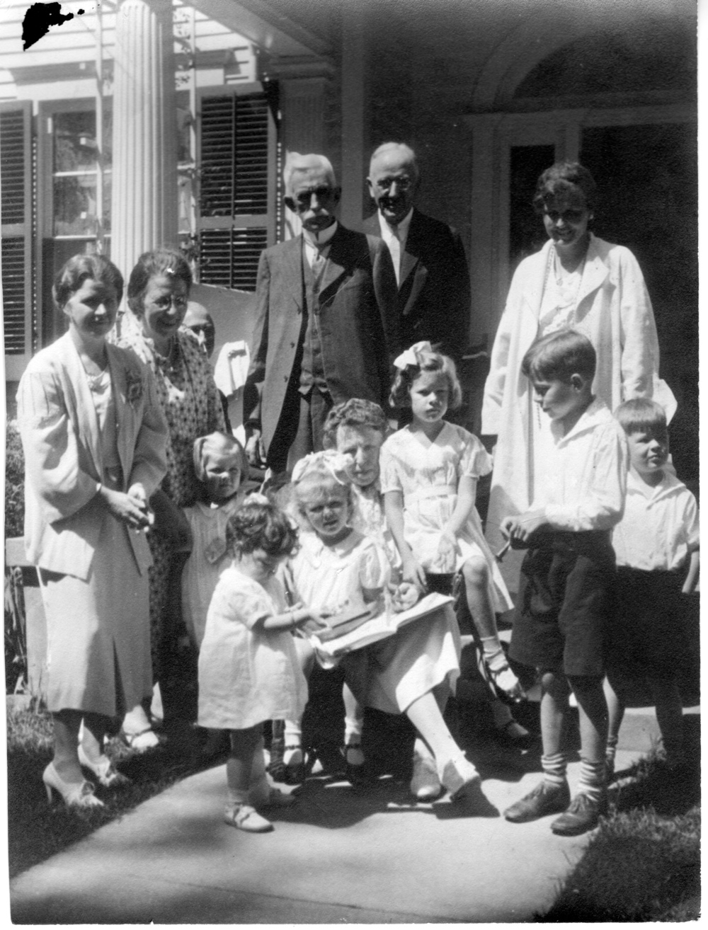 This photograph was taken at The Elms during a visit by both Furnas daughters-in- law and their children, probably in the summer of 1934