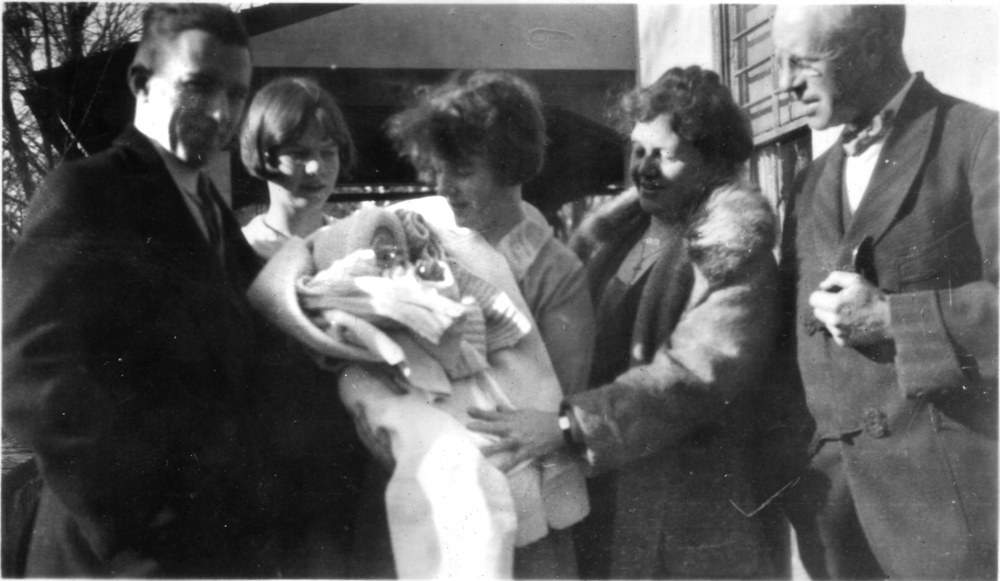 L-R: Paul, Helen, Henny holding William Paul, Caroline, William
