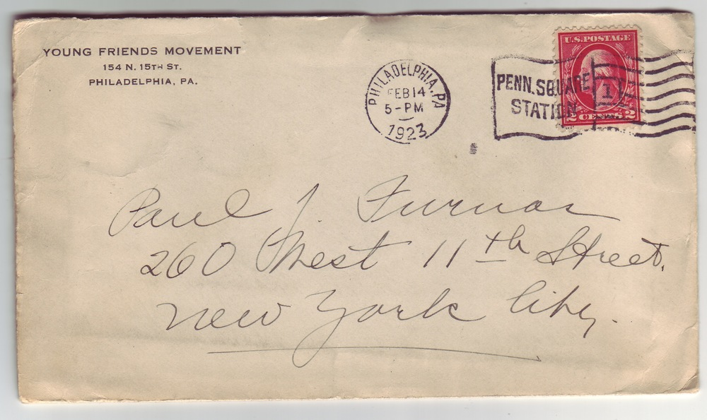 Letter from Betty addressed to Paul on February 14, 1923
