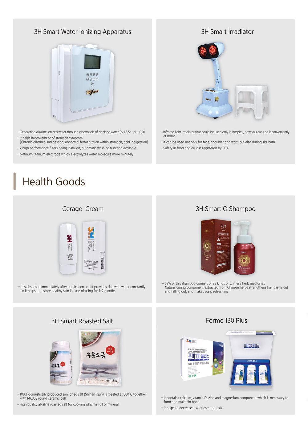 Beauty & Nutrition - Here is a description of products.