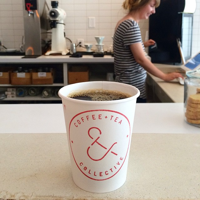We love making our own coffee while on vacation (it's a fantastic daily ritual to really savor while in a new place); but we also appreciate the spaces of #coffee purveyors. @candtcollective's space is beautiful and the coffee is delicious.