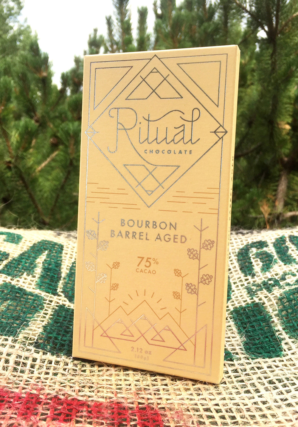 Ritual Chocolate's bourbon barrel aged chocolate
