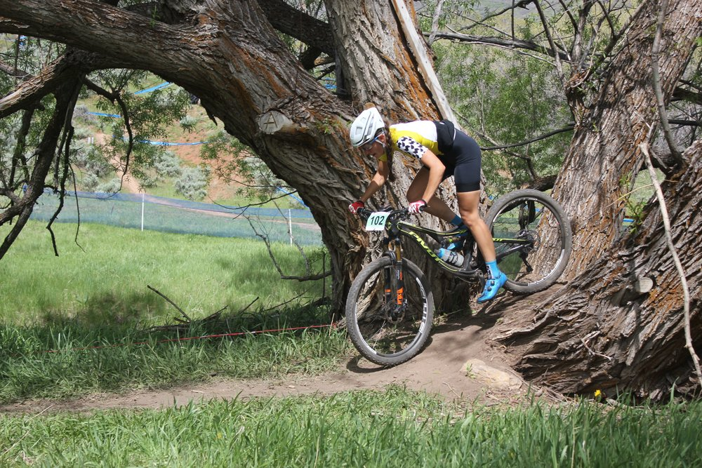 Sofia, our administrative assistant, at a mountain bike race last year.