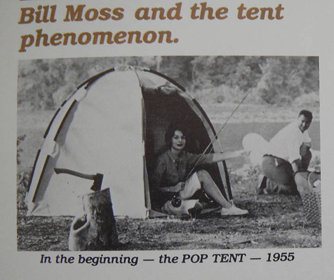 The Pop Tent, designed by Bill Moss in 1955