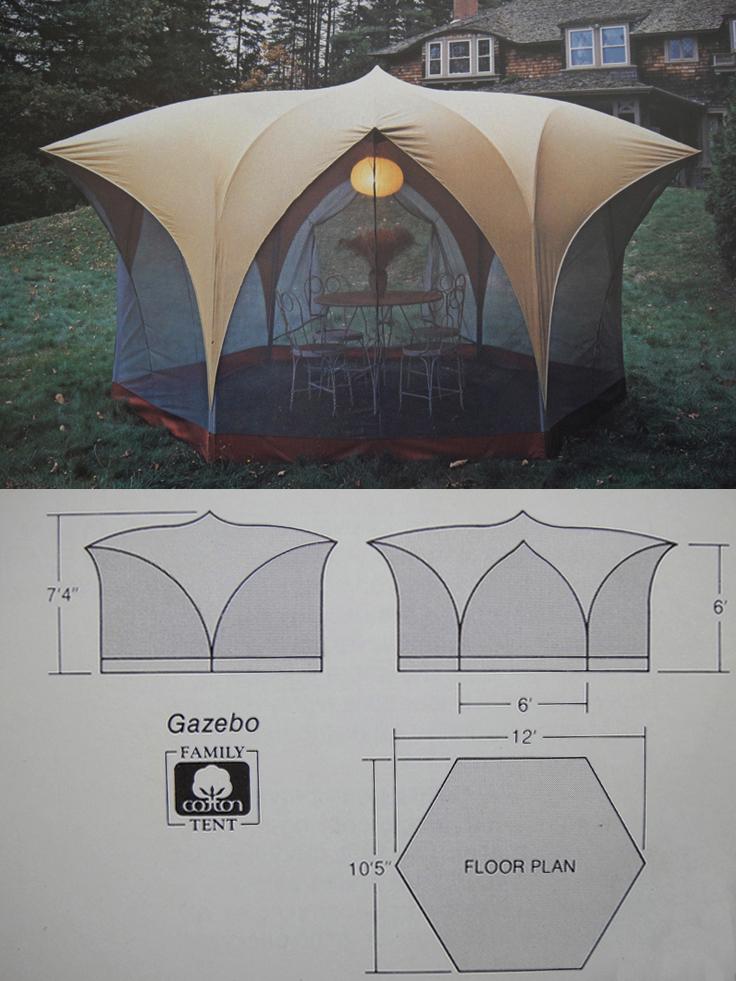 Bill Moss Gazebo Tent and Tent Plan