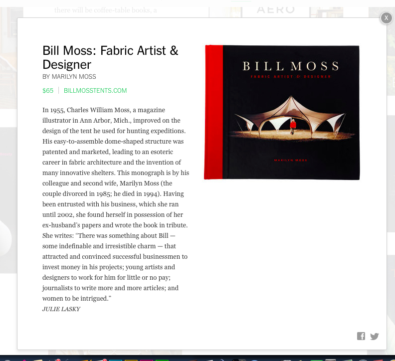 Bill Moss: Fabric Artist & Designer in the NY TImes Holiday Gift Guide