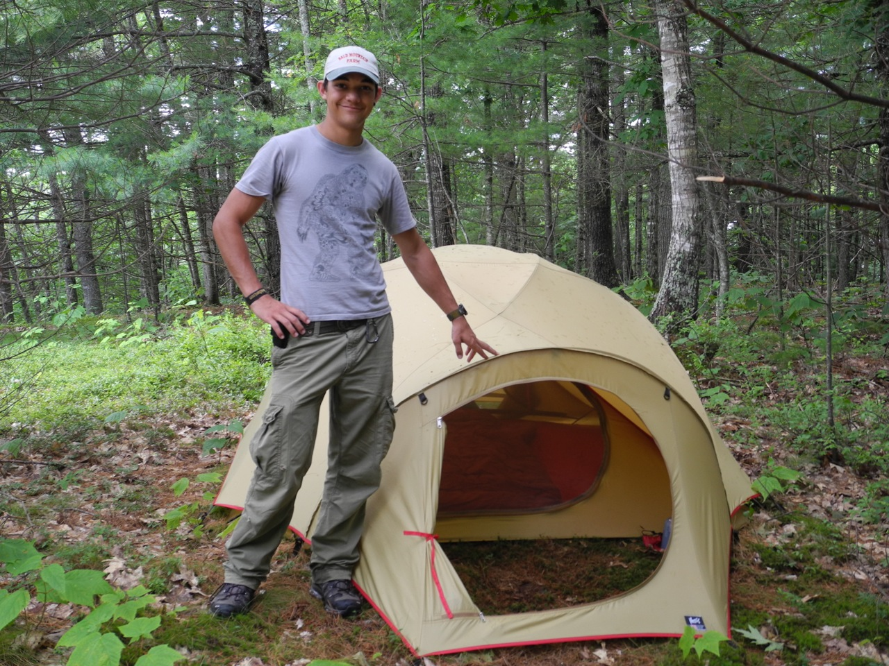 Nick Moss and his Dipper Tent