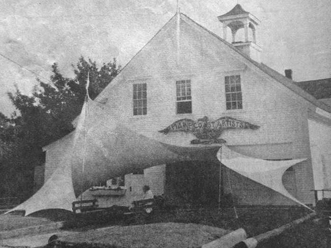 A Tension Fabric Sculpture/Entrance Canopy designed by Bill Moss in the 1970s for Maine Coast Artists (now the Center for Maine Contemporary Art) in Rockport. #tbt